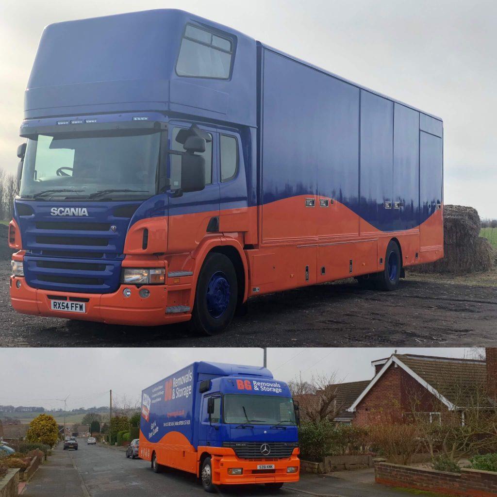BG Removals & Storage Lorries